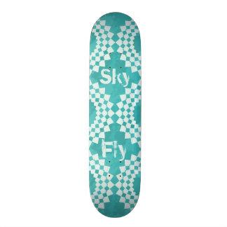 Blue Sky Mandalas 21.6 Cm Old School Skateboard Deck