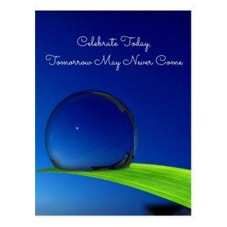 Blue Sky Moon In Dew Drop Celebrate Quote Postcard