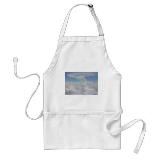 Blue Sky Nature White Puffy Cloud Formations Standard Apron