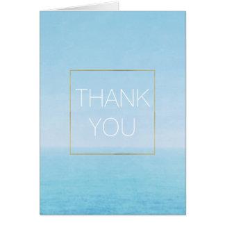 Blue Sky Ocean Beach Thank you Card