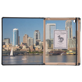 Blue sky over the Elliott Bay waterfront Cases For iPad