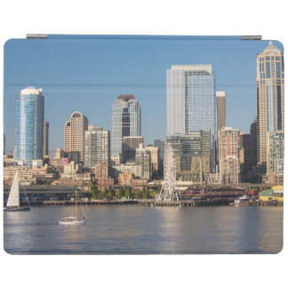 Blue sky over the Elliott Bay waterfront iPad Cover