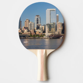 Blue sky over the Elliott Bay waterfront Ping Pong Paddle