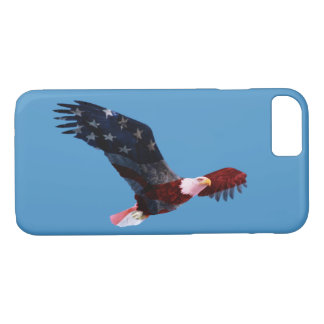 Blue Sky Patriotic American Flag Bald Eagle iPhone 7 Case