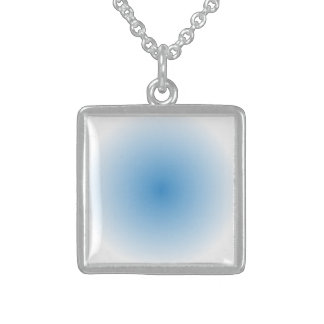 Blue Sky Radial Gradient Sterling Silver Necklace