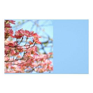 Blue Sky Stationery custom Pink Dogwood Flowers