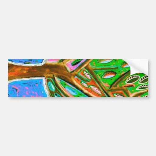 Blue Sky Tree of Life Bumper Stickers