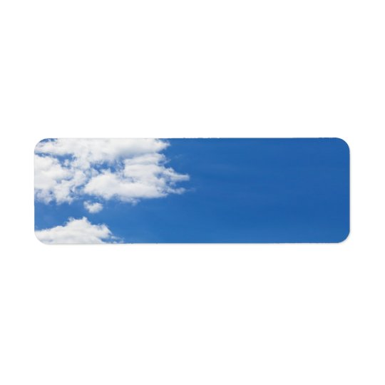 Blue Sky White Clouds Background Customised Blank