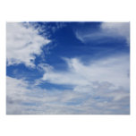 Blue Sky White Clouds Background - Customised Poster