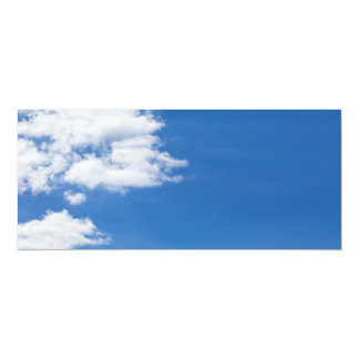 Blue Sky White Clouds Background Customized Blank 10 Cm X 24 Cm Invitation Card