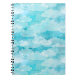 Blue Sky, White Clouds, Cloudscape, Cloudy Sky Notebook