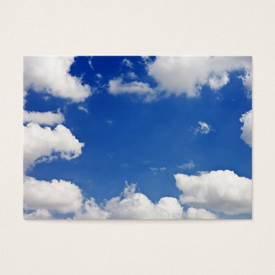 Blue Sky White Clouds Heaven Template Business Card