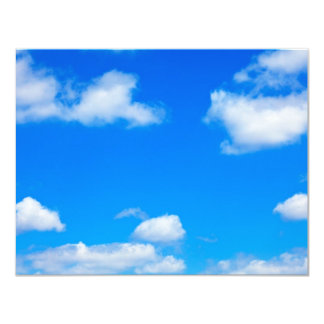 Blue Sky White Clouds Heavenly Cloud Background Card