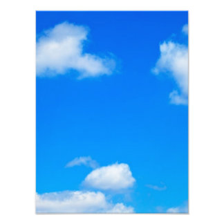 Blue Sky White Clouds Heavenly Cloud Background Photo Art