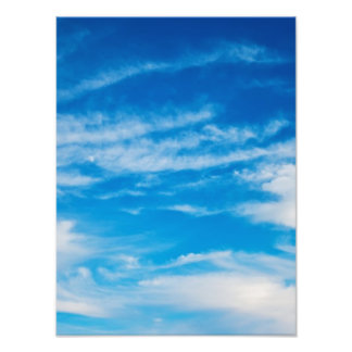 Blue Sky White Clouds Heavenly Cloud Background Photographic Print