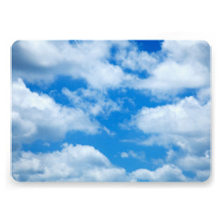 Blue Sky White Clouds Heavenly Skies Background 13 Cm X 18 Cm Invitation Card