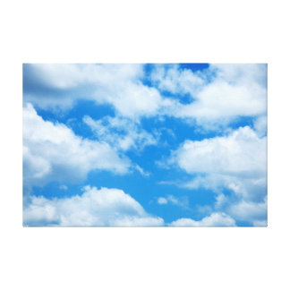 Blue Sky White Clouds Heavenly Skies Background Canvas Prints