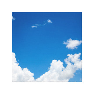 Blue Sky White Clouds Heavenly Skies Background Gallery Wrap Canvas