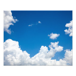 Blue Sky White Clouds Heavenly Skies Background Photo Art