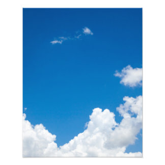 Blue Sky White Clouds Heavenly Skies Background Photographic Print