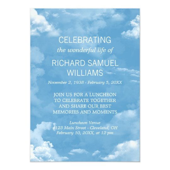 Blue Sky White Clouds Life Celebration Card