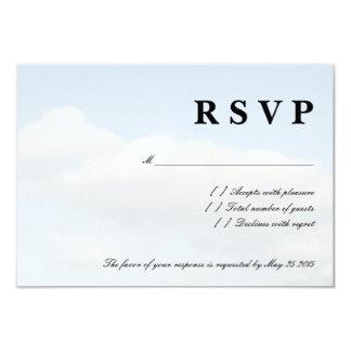 Blue sky white clouds RSVP wedding cards Custom Invitations