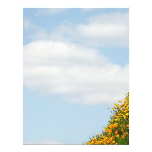 Blue Sky White Clouds Summer Flyers theme paper