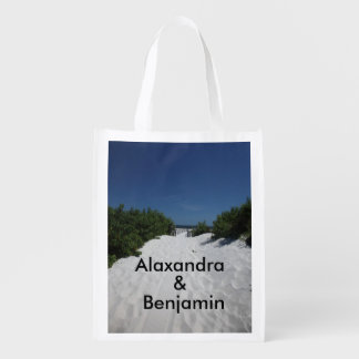 Blue Sky ~ White Sand Tote Bag