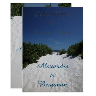 Blue Sky~White Sand Wedding Invitations