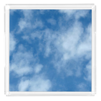 Blue Sky with Clouds Acrylic Tray