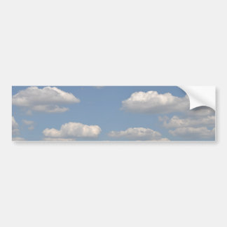Blue sky with clouds bumper sticker
