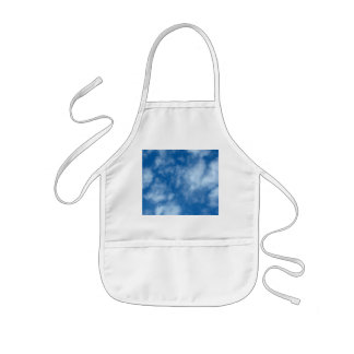 Blue Sky with Clouds Kids Apron