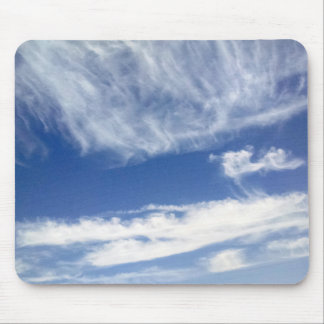 Blue Sky with Clouds Mouse Pad