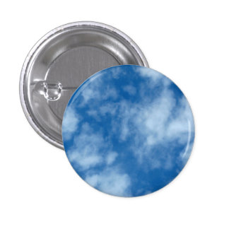 Blue Sky with Clouds Photo 3 Cm Round Badge