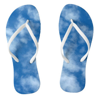Blue Sky with Clouds Photo Flip Flops