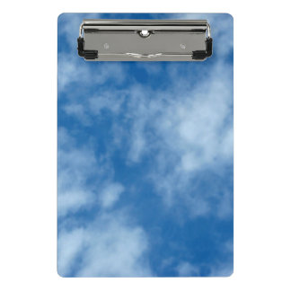 Blue Sky with Clouds Photo Mini Clipboard