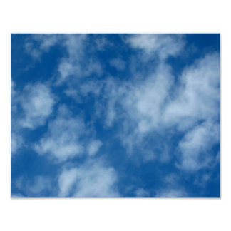 Blue Sky with Clouds Photo Poster