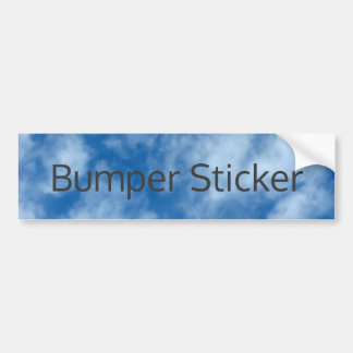 Blue Sky with Clouds Photo with Customizable Text Bumper Sticker