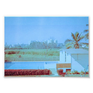 Blue Sky with Green Field Photo Print