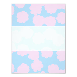 Blue Sky with Pink Clouds Pattern. 11 Cm X 14 Cm Invitation Card