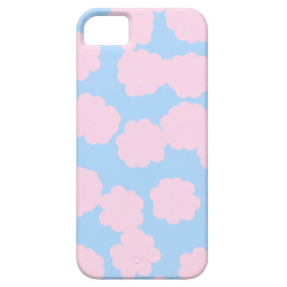 Blue Sky with Pink Clouds Pattern. iPhone 5 Cover