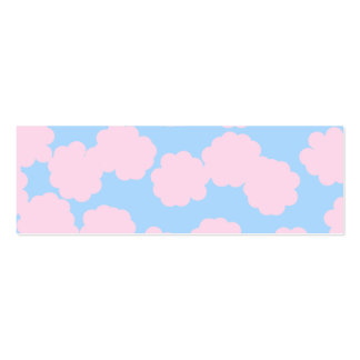 Blue Sky with Pink Clouds Pattern. Pack Of Skinny Business Cards