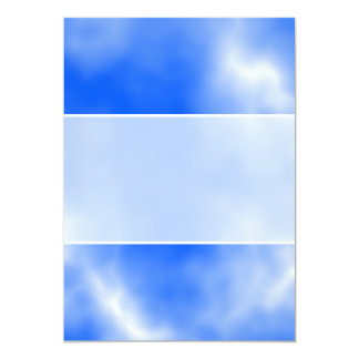 Blue sky with white clouds. 13 cm x 18 cm invitation card