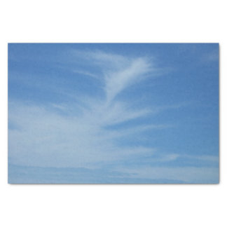 Blue Sky with White Clouds Abstract Nature Photo Tissue Paper