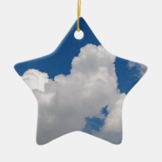 Blue sky with white clouds ceramic star decoration