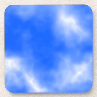 Blue sky with white clouds. coaster