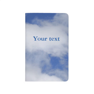 Blue sky with white clouds journals