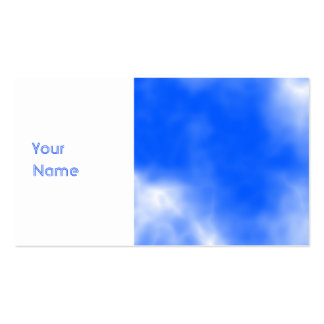 Blue sky with white clouds. pack of standard business cards