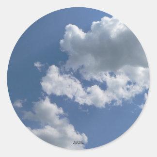 """Blue Sky Wonders"" Classic Round Sticker"