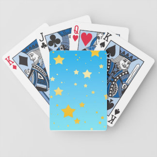 Blue Sky Yellow Stars Cards Card Decks